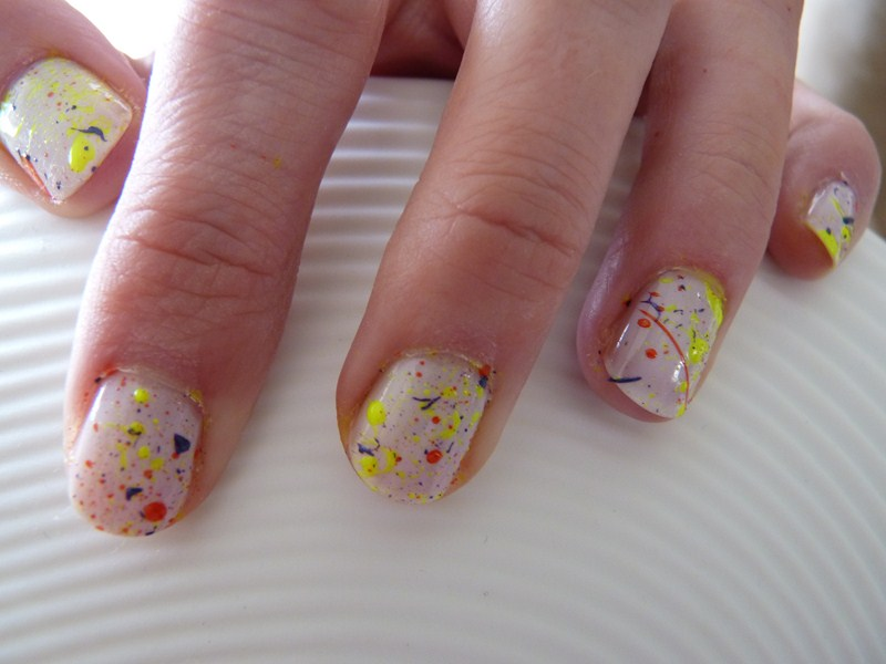 The sunday nail battle - Manucure splatter