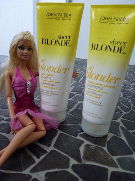 Le shampooing Go Blonder- Sheer Blonde et le soin démêlant Go Blonder-Sheer Blonde avis John Frieda
