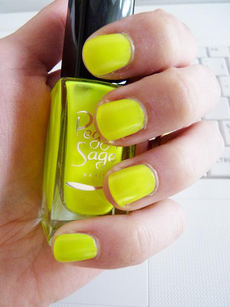 Jaune Néon Peggy Sage pour préparer le nail gradient