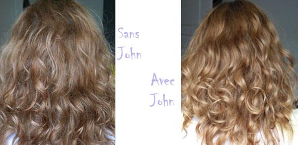Comparaisons après l'utilisation du shampooing Go Blonder- Sheer Blonde et du soin démêlant Go Blonder-Sheer Blonde avis John Frieda