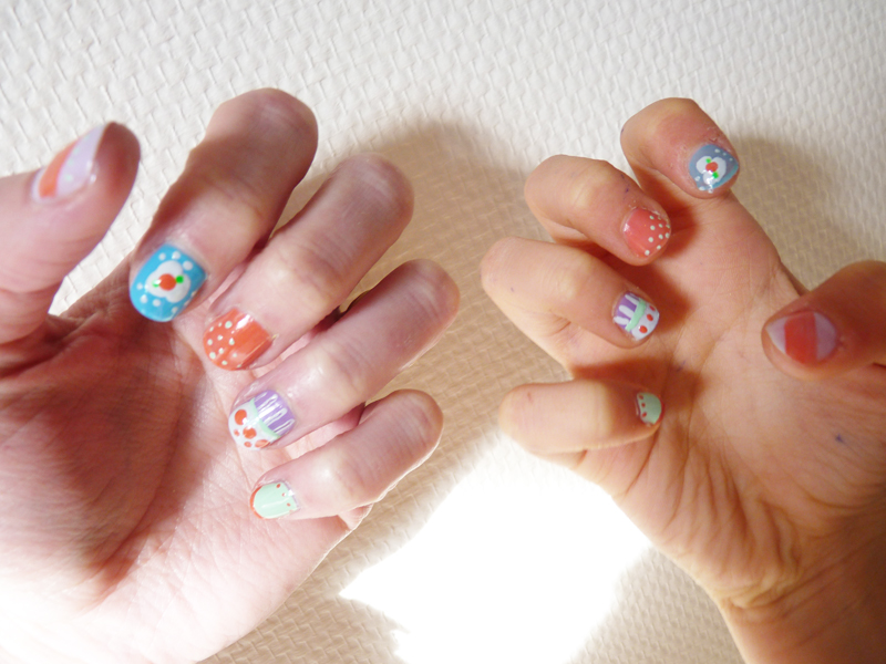 The Sunday Nail Battle : All Over Nail - Mère & fille mother's day nail art