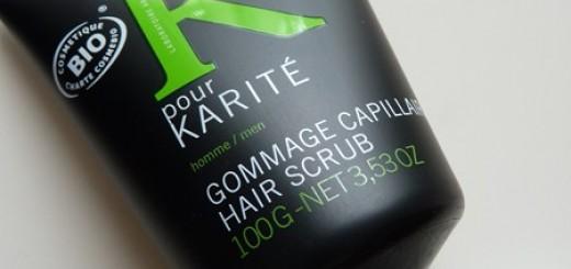 K pour Karité, gommage capillaire pour homme