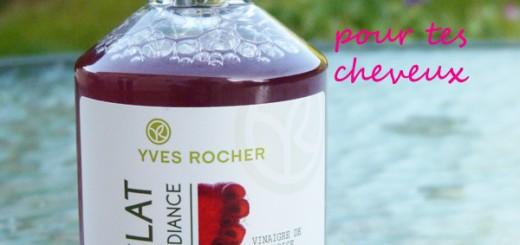 J'ai enfin testé le vinaigre de rinçage à la framboise d'Yves Rocher