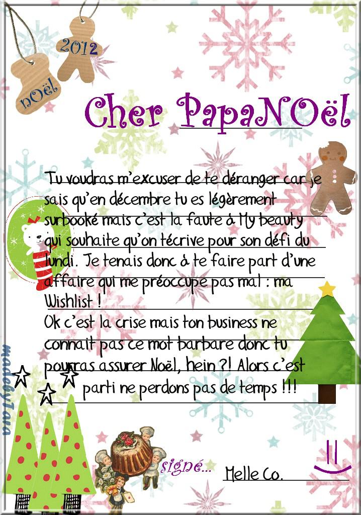 Le défi du lundi // Lettre au Père Noël - Mademoiselle