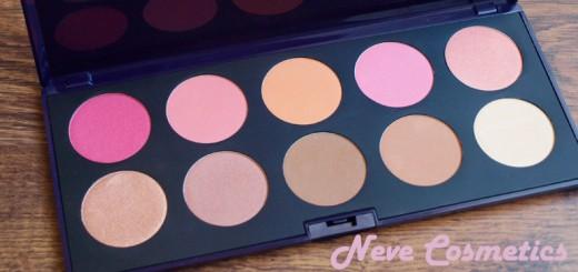 Ma palette à blushs Neve Cosmetics