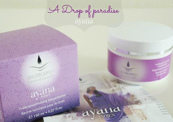 "Ayana de Tautropfen ""Drop of Paradise"""