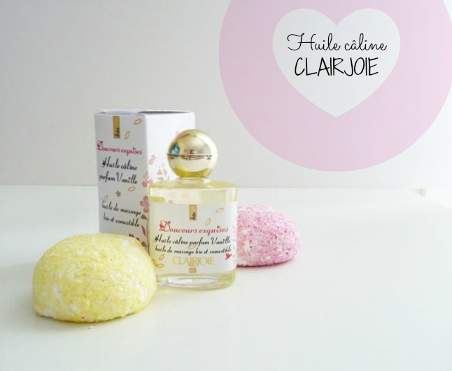 Ma St Valentin sera gourmande avec l'Huile câline de Clairjoie