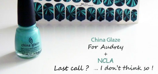 China Glaze For Audrey + NCLA Nail Wraps Patch = Le Bon Duo