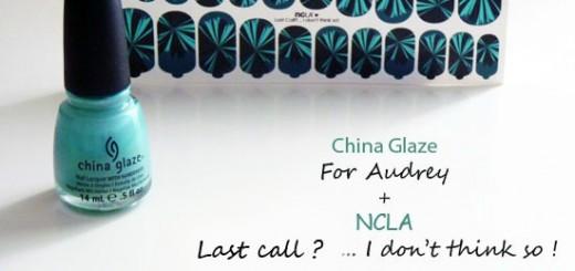 China Glaze For Audrey + NCLA Nail Wraps Patch = Le Bon Duo