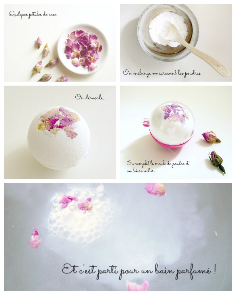 diy une bombe de bain aux p tales de rose black confetti. Black Bedroom Furniture Sets. Home Design Ideas