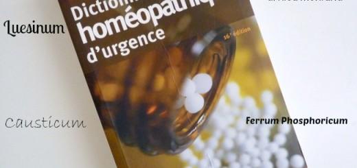A lire : Le Dictionnaire Homéopathique d'urgence De L. Pommier