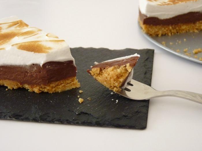 gâteau choco coco recette tarte chocolat meringuée