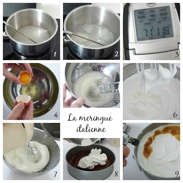 gâteau coco choco recette tarte chocolat meringuée