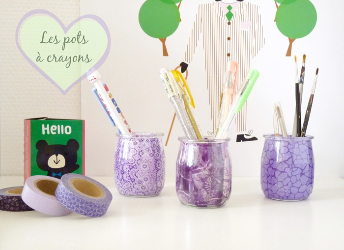 Pot crayon diy archives for Decoration pot de yaourt en verre