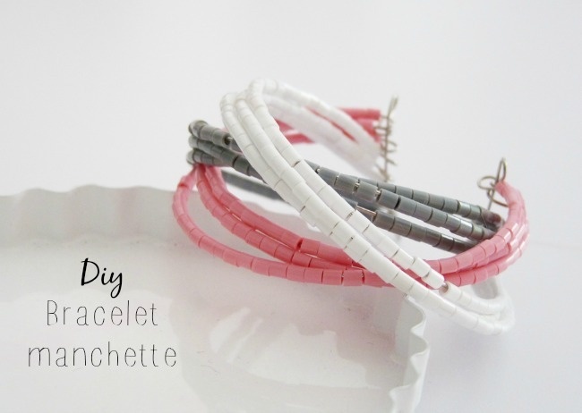 DIY : Bracelet manchette en perles Hama - Black Confetti