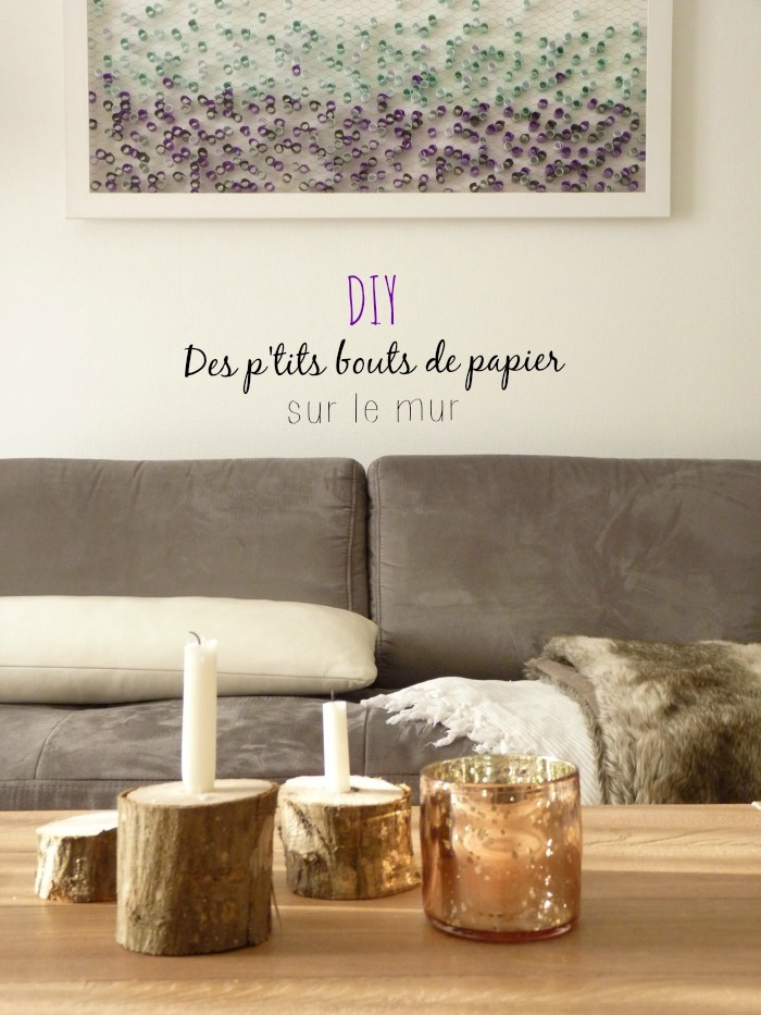 diy des p 39 tits bouts de papier sur le mur black confetti. Black Bedroom Furniture Sets. Home Design Ideas