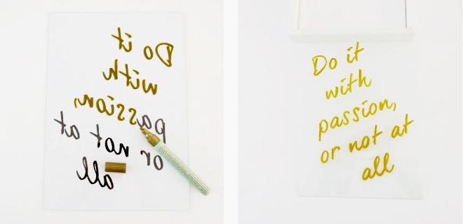 tableau gold pas à pas écrire sur un tableau en verre