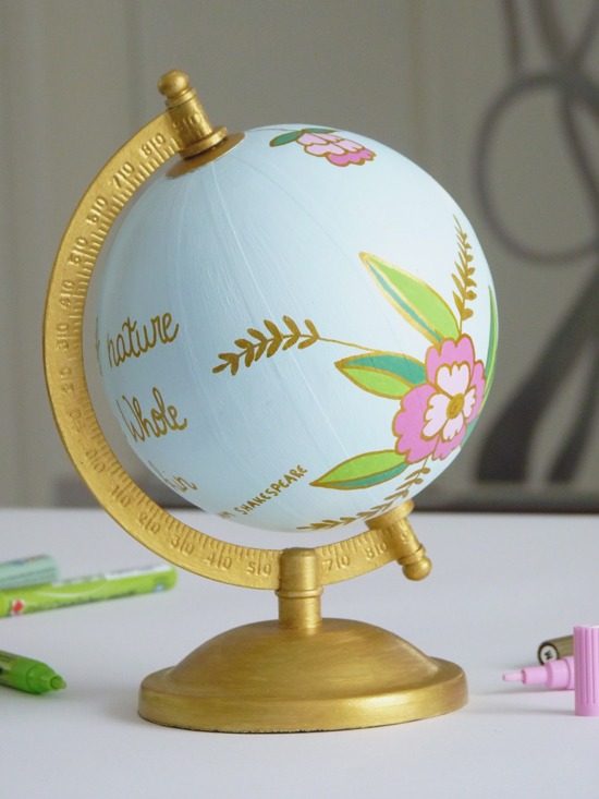 customiser un globe  wanderlust Anthropologie