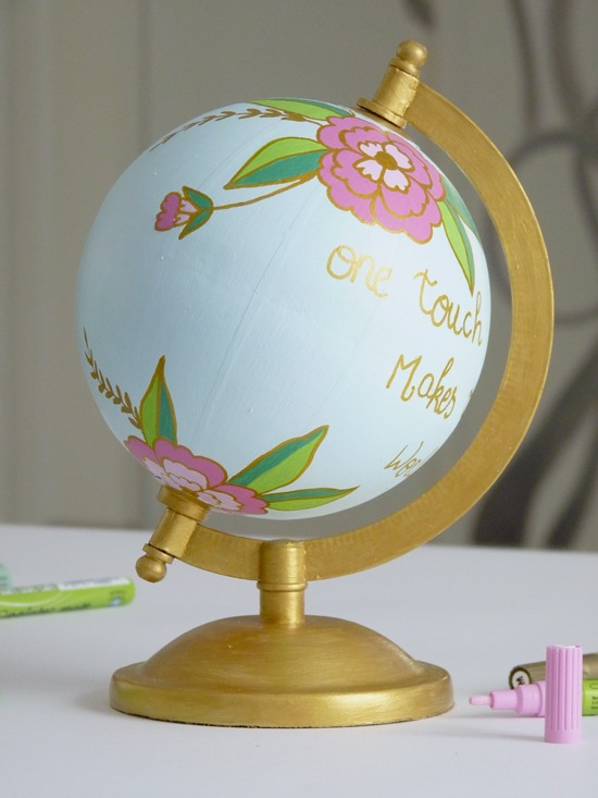 customiser un globe 6