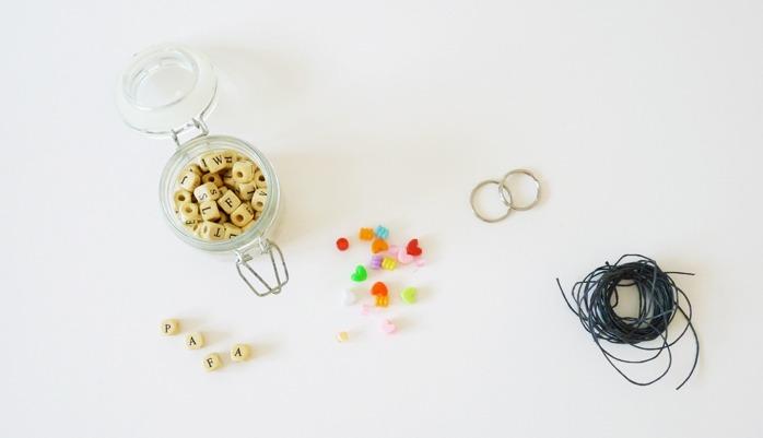 cc04565b5263 DIY fête des pères   les portes-clés message - Black Confetti