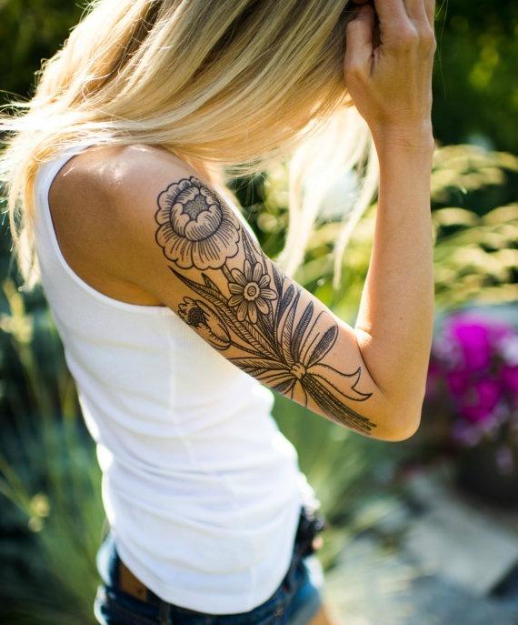 news tatouage éphémère etsy