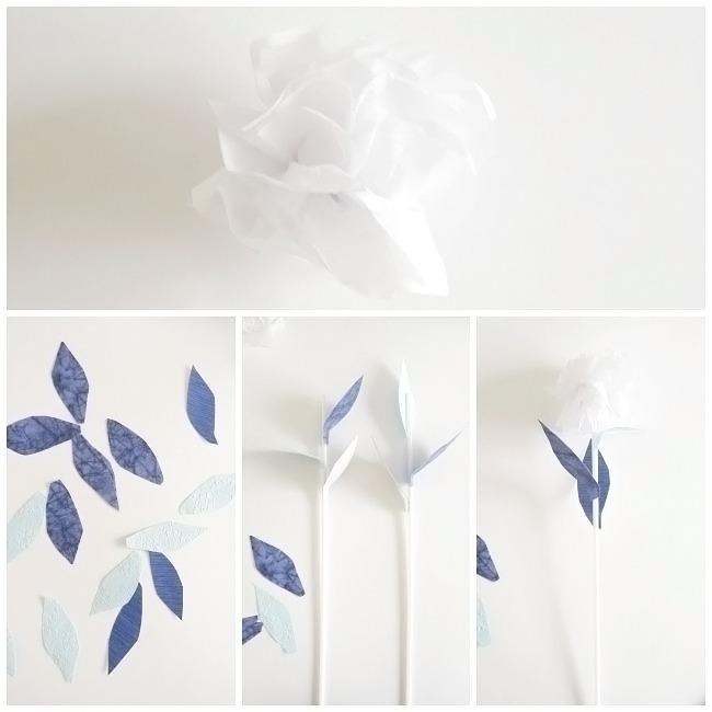 bouquet de naissance original diy fabrication de pompon et de fleurs