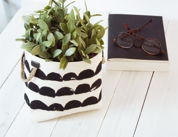 diy cache pot inspiration ferm living black confetti