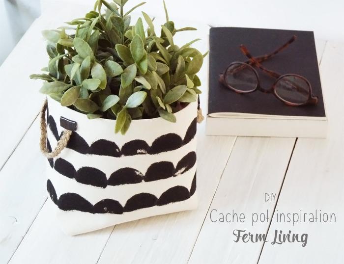 diy cache pot inspiration ferm living black confetti. Black Bedroom Furniture Sets. Home Design Ideas