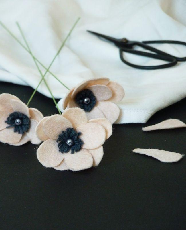 diy fleurs en feutrine 09
