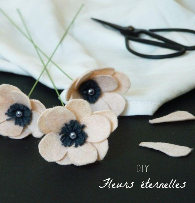 diy fleurs en feutrine 11