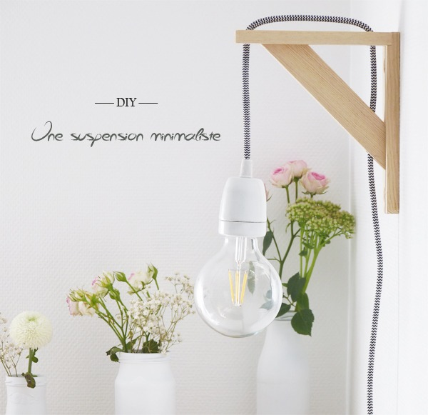diy réaliser une suspension minimaliste