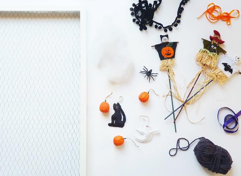 diy déco murale d'halloween matériel