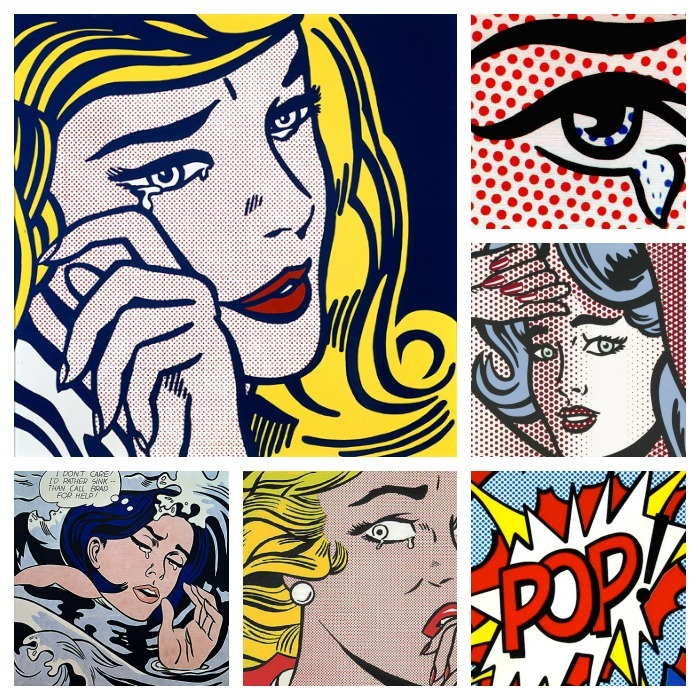 make up halloween pop art