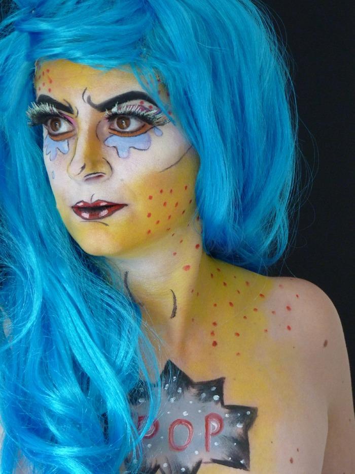 makeup halloween popart 02