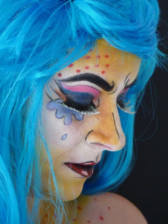 makeup halloween popart 03