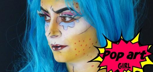 makeup halloween popart girl