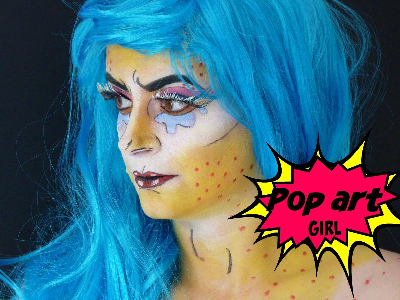 make up d 39 halloween pop art girl black confetti. Black Bedroom Furniture Sets. Home Design Ideas