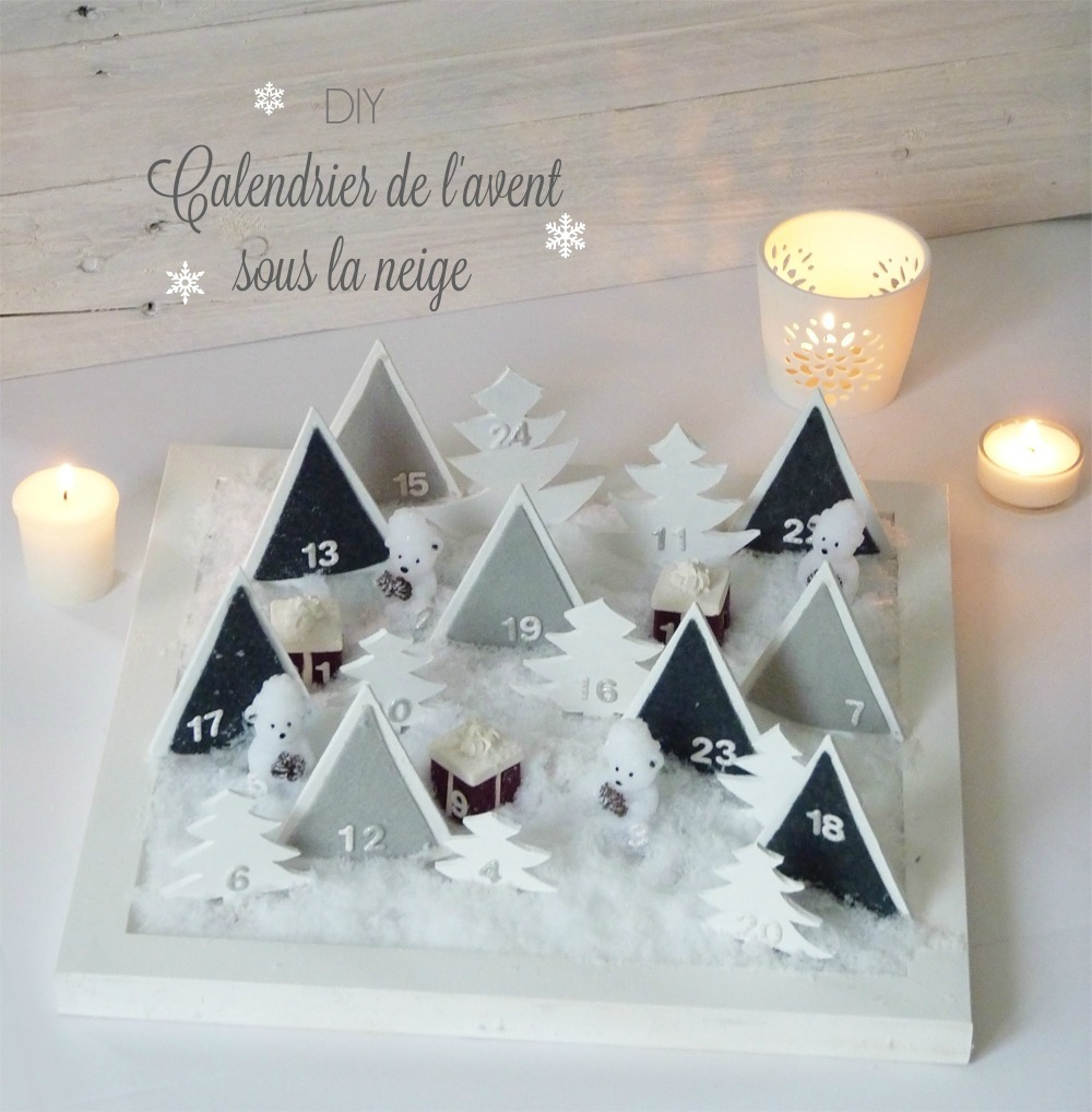 diy calendrier de l 39 avent sous la neige black confetti. Black Bedroom Furniture Sets. Home Design Ideas