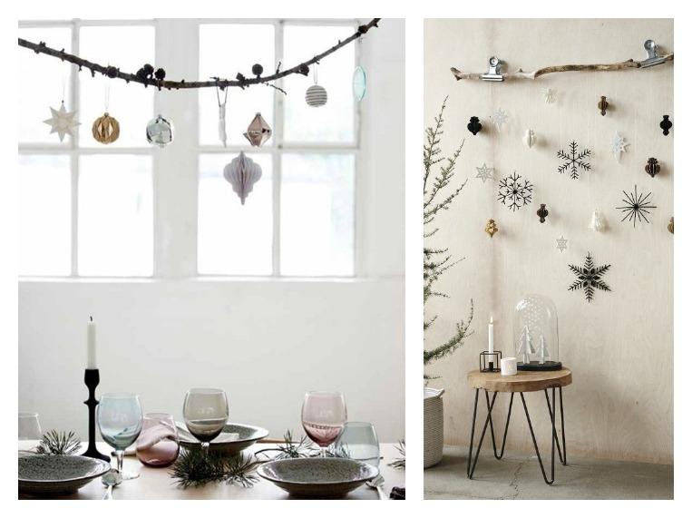 inspiration branche suspendue décoration noel