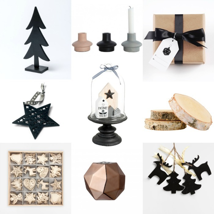 idees decoration noel noir bois scandinave