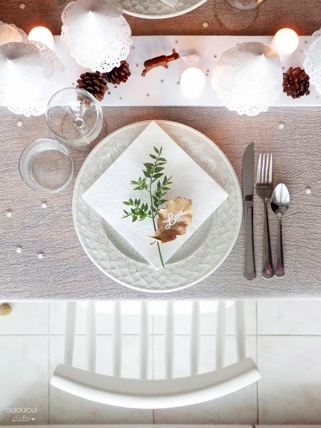 jolies assiettes pour une table de fête table de noel 03