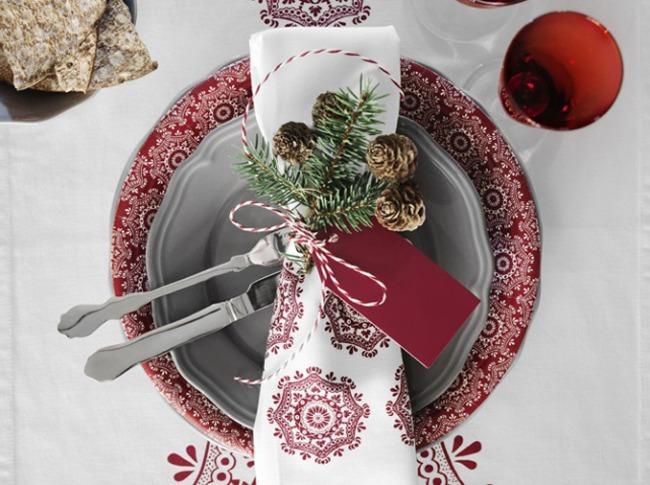 jolies assiettes pour une table de fête table de noel 04