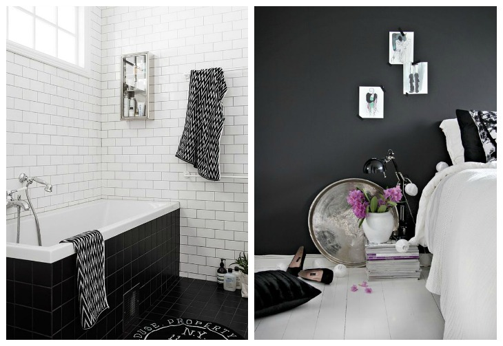 inspiration blanc et noir intérieur deco idees 17