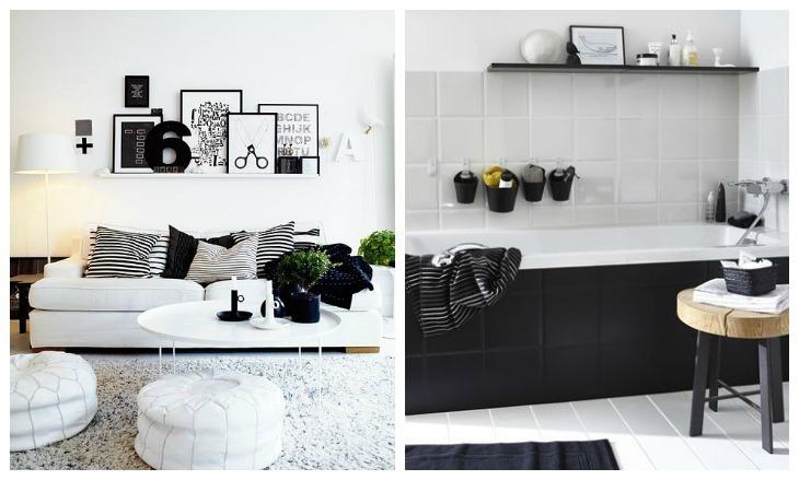inspiration blanc et noir intérieur deco idees 20