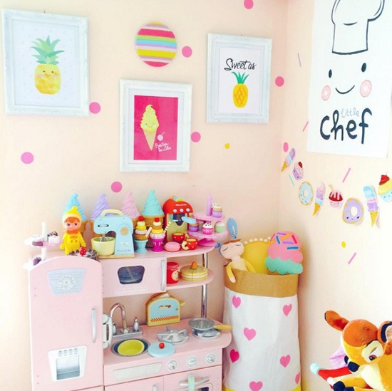 D coration gourmande et color e pour les kids black confetti for Chambre enfant coloree