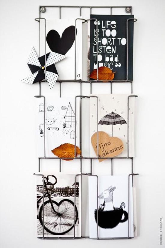 presentoire carte postale designwonen