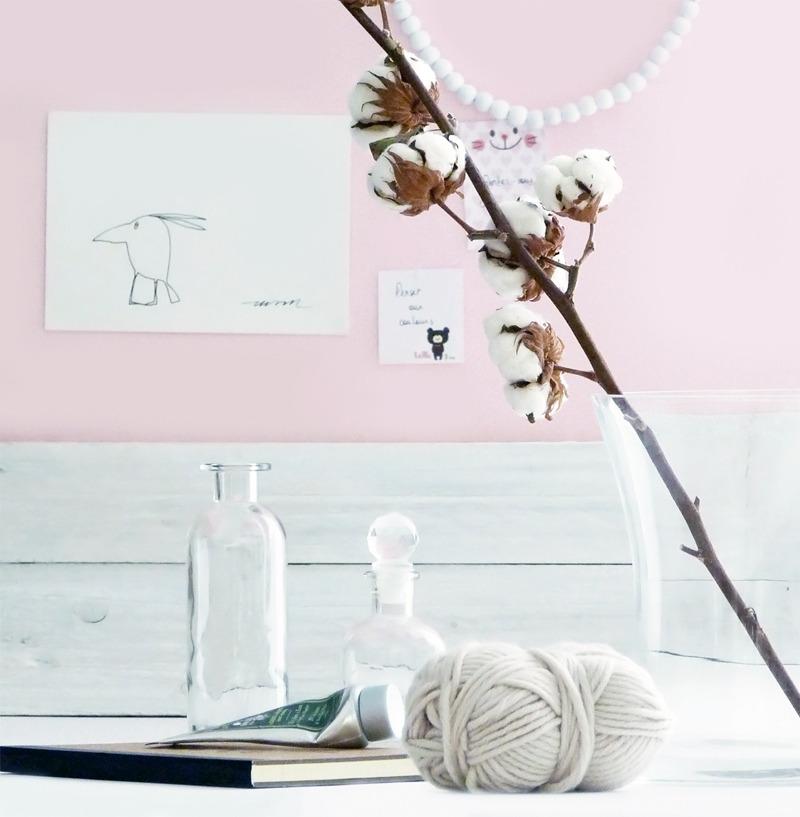 faire entrer le printemps decoration rose bureau