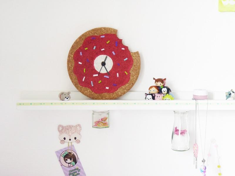 diy horloge donut