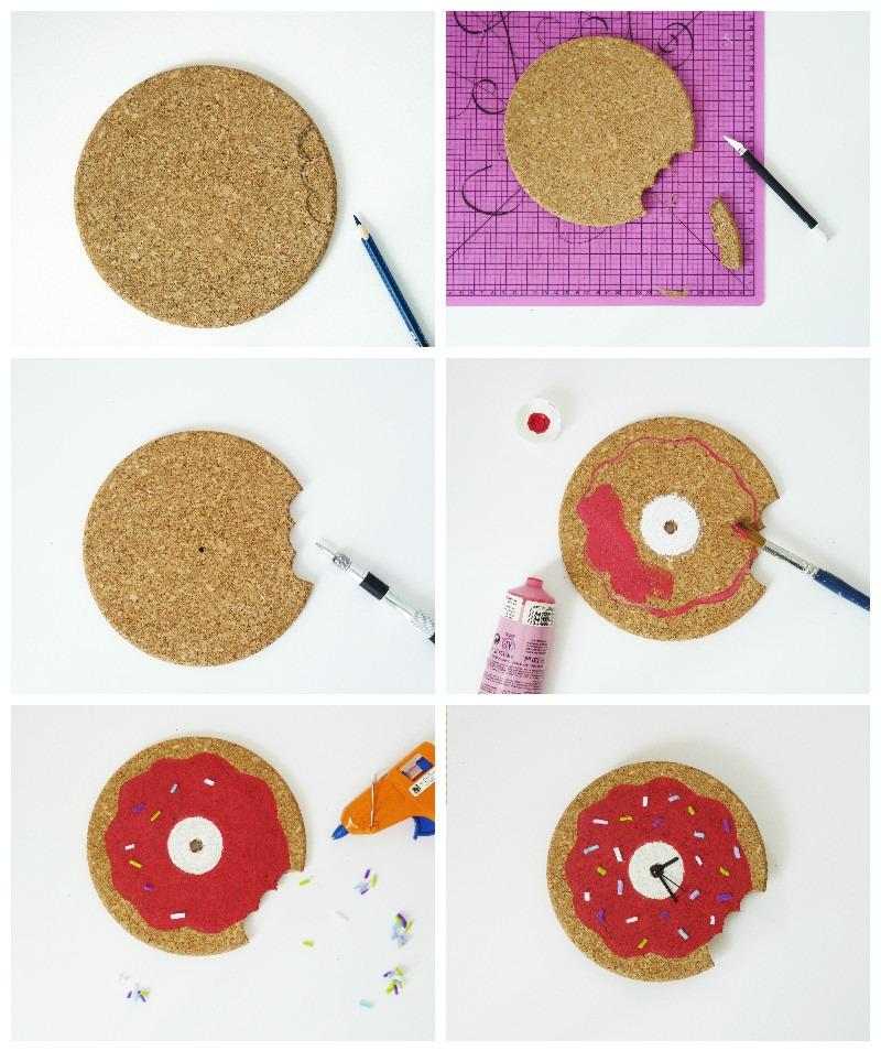 diy horloge donut tuto