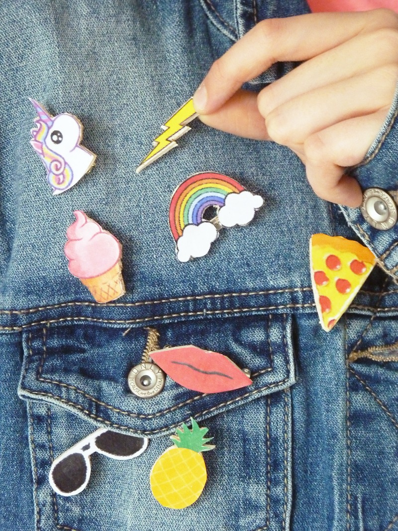 diy patch customiser veste en jean diy pins